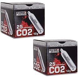 Swiss Arms Sparclettes de gaz Co2 Airsoft par 50