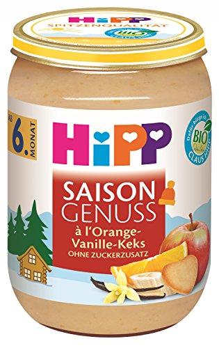 HiPP Winter-Genuss à l'Orangen-Vanille-Plätzchen, 6er Pack (6 x 190 g)