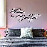 Die besten Dream on me Dream Cars - Always Kiss Me Goodnight Wall Quote Removable Art Bewertungen