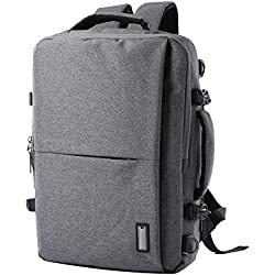 ADEMI Unisex Business Rucksack Wasserdichte Laptop Tasche Reisegepäck Tasche Geschäftsreise Computer Daypack 15 Zoll Rucksack,Grey-M