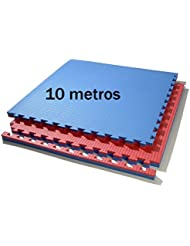 10 metros tatami (rojo/azul) de grosor 2 cm. medida 1 x 1 m.
