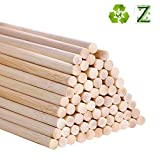 Bastoncini di bambù per artigianato e fai da te, 30,5 cm, confezione da 55 5mm / 0.20inch woods