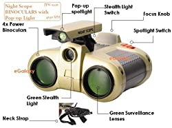 High-Tech Toy Children love engaging in live action role playing games, which will get even better with the Adraxx Spy Thriller toy binocular with night vision. These binoculars will make spy games much more exciting and can even be used as a bird-wa...