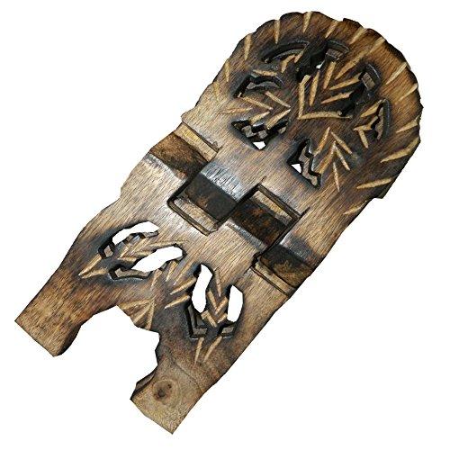 Atril soporte para libros madera mango hoja de parra tallas mueble pequeño decoración