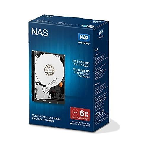 Western Digital Red 6TB NAS Desktop interne Festplatte - 5400 U/min SATA 6 Gb/s 64MB Cache 3.5 Zoll -