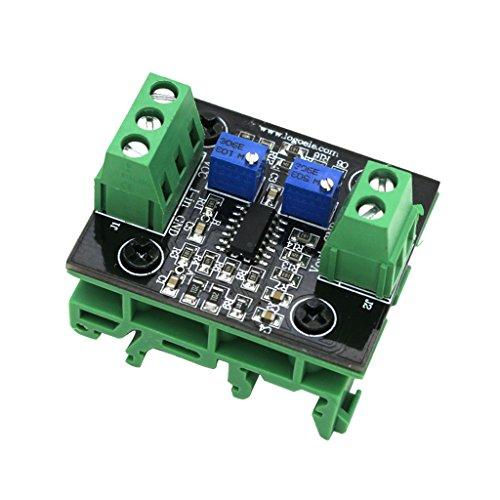 perfk 4-20ma auf 0-10 V Strom-Spannungswandlerkarte Transmitter Konvertierungsmodul mit Steuermodus -