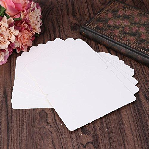 4 X Neue Toner (logres 100/50Blanko zusammenklappbar Papier Karten Grußkarte Weihnachten Hochzeit Crafts, weiß, 1 Packung)