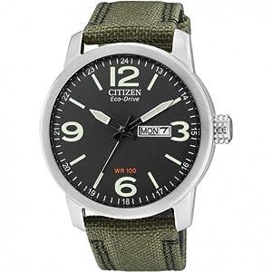 Citizen BM8470-11EE - Reloj analógico de Cuarzo para Hombre, Correa de Nailon Color Verde 8