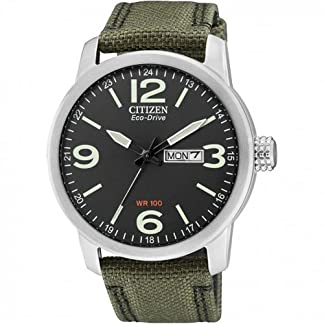 Citizen-Herren-Analog-Quarz-Uhr-mit-Nylon-Armband-BM8470-11EE