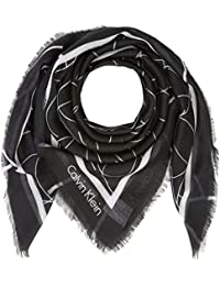Calvin Klein Artisan Logo Scarf, Foulard Tour de Cou Femme, Noir (Black 001), Taille Unique (Taille Fabricant: OS)