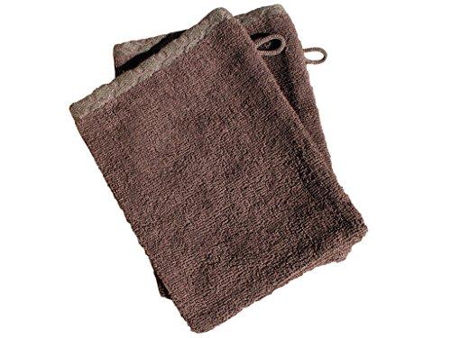 Soleil d'Ocre Lot 2 gants de toilette ANTIQUE Chocolat