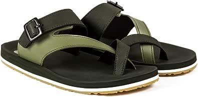 ADDA Men's Olive Green Flip-Flops - 7 UK