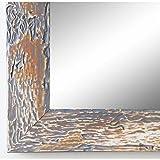 Online Galerie Bingold Spiegel Wandspiegel Badspiegel Flurspiegel Garderobenspiegel - Über 200 Größen - Parma Grau 3,9 - Außenmaß des Spiegels 50 x 60 - Wunschmaße auf Anfrage - Antik, Barock