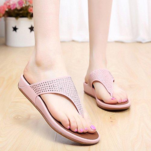 Estate Sandali Pantaloni donna Summer Comfort Casual Flat Heels Scarpe da passeggio Scarpe da spiaggia di temperamento Colore / formato facoltativo #2