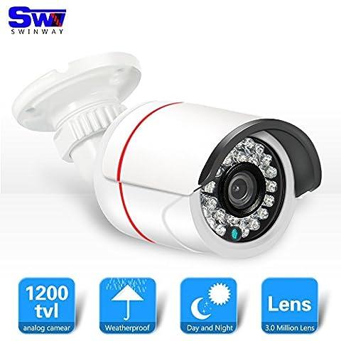 Fotocamera SW 1200TVL CCTV con visione notturna di IR Sony sensore CMOS 3,6 millimetri grandangolare 24 LED IR telecamera di sicurezza esterna