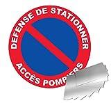 Panneau défense de stationner - accès pompier - Alu Ø300mm - 4010656