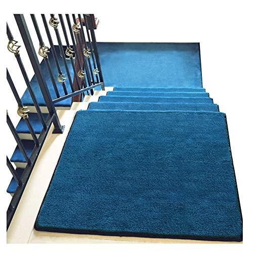 Tappeti per scale tappetini per scale 24x65cm tappetini per moquette shaggy step 18mm tappetini antiscivolo per scale (colore : a, dimensioni : 1 piece set)