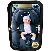 EasyInfant Auto Baby-Spiegel *NEU* - Extra Gross | Geprüfte Sicherheit | Verstellsicher | Lebenslange 100% ZUFRIEDENHEITSGARANTIE - Kindersitz Rückspiegel - Rückspiegel für Babyschalen - Maxi-Cosi Auto Baby Spiegel