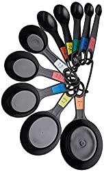Kitchen Craft Plastic Measuring Cups and Spoons (Set of 10)