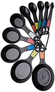 KitchenCraft Plastic Measuring Cups and Spoons (Set of 10)