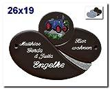 Keramikschild / Namensschild / Türschild in Keramik, 26x19 cm inklusive Wunschgravur, auch als Klingelschild lieferbar