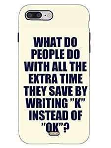 Save The Time - Ok - Typography - Hard Back Case Cover for iPhone 7 - Superior Matte Finish - HD Printed Cases and Covers