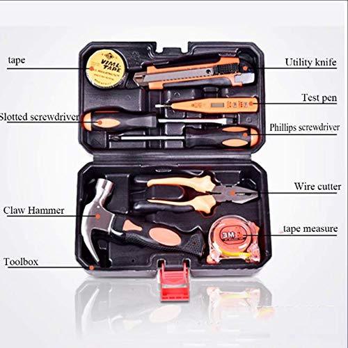 Libina 13 Stück Werkzeug Basic Haushalts Werkzeug Kit Manuelle Hardware mit Zangen Schraubenzieher und Schraubendreher DIY-Artikel und Tägliche Reparatur Perfekte Haus Wärme Geschenke