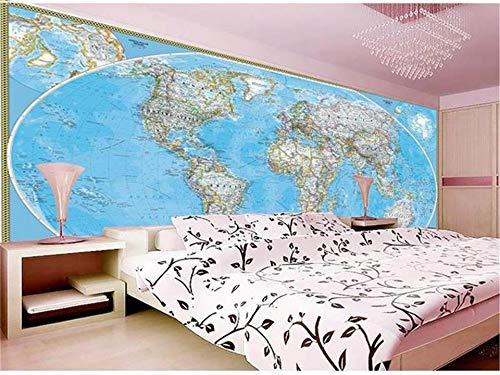 XZCWWH Benutzerdefinierte 3D Fototapete Mural Bett Zimmer Asiatischen Stil Weltkarte Malerei Sofa Tv Hintergrund Wandtapete Für Wand 3D,350Cm(W)×256Cm(H) - Asiatischen Set Sofa