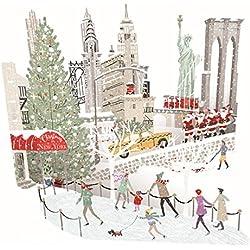 Papel D 'ART tarjetas de Navidad–Nueva York–3d tarjeta de Pop-up