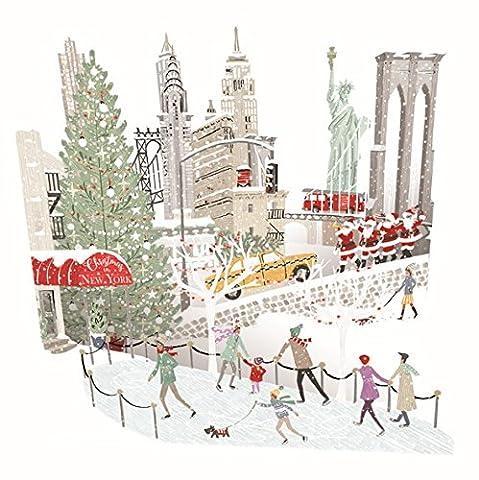 Papier d 'Art Weihnachten Karten–New York–3D Pop-Up-Karte