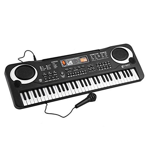 Lzndeal Teclado música electrónica 61 Teclas órgano