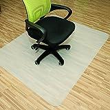Rapid Teck® Bodenschutzmatten 120cm x 150cm für Hartböden in 6 Größen Bürostuhlunterlage Bodenschutzmatte Semi transparent