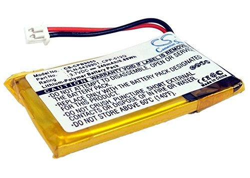 Kopfhörer Akku Li-Polymer 240mAh/0.89Wh 3.7V passend für Avaya, Plantronics Sc60 Usb