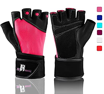 Weightlifting Gloves With Wrist Support - Workout Gloves With Wrist Padding For Lifting Weights, Cross Training, Power Lifting, Crossfit Equipment - Gym Gloves For Women & Men Quality Lifting Gloves from RIMSports