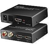 4K HDMI Splitter 1x 2mit HDMI Audio Extractor + optische und R/L Audio Output Stromversorgung Splitter 1in 2out Signal Verteiler unterstützt 3D 4Kx2K für Apple TV PS4Xbox One DVD Blu-ray Player HD TV Projektor