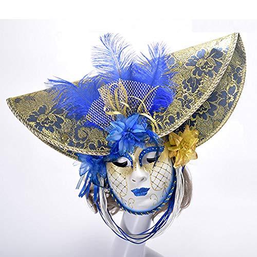 Edelehu Halloween Party Maske Handbemalte Feine Federn Mit Blumen Cosplay Kostüm Bandana Glamour Weibliche Maske
