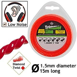 SPARES2GO 1.5mm Low Noise Strimmer Line Spool Refil for Qualcast GT25 GT30 GGT3001 GGT4001 GGT4502 GGT600A1 GT2518 GT2826 Strimmers