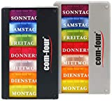 com-four® 2X Medikamentendosierer 7 Tage - Medikamenten-Box (Morgens, Mittags,...