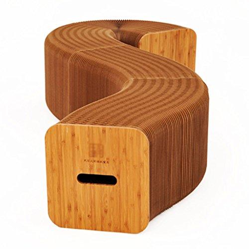 Chi Cheng Fang Electronic business Einfarbiger zusammenklappbarer Stuhl Kreativer tragbarer Papierstuhl wiegt 5000 Gramm pro Quadratmeter mit 6 Kissen (Color : Includes 6 Felt mats)