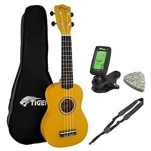 soprano ukulele kit beginners packs yellow musical instruments. Black Bedroom Furniture Sets. Home Design Ideas