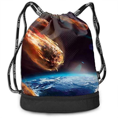 ash Earth Drawstring Bag Sport Gym Sack Bundle Backpack Daypack for Men and Women Outdoor Shopping Satchel Rucksack ()
