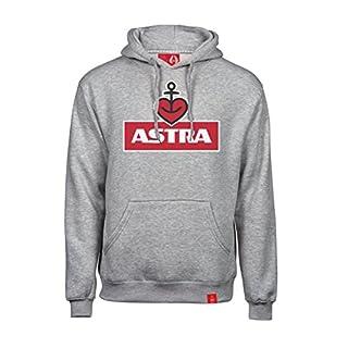 ASTRA Hoodie Herzanker Unisex Größe XL, bequemer Pullover mit Kapuze, Cooler Kapuzen-Pulli mit Aufdruck, für Damen & Herren, Grauer Sweater aus St.Pauli