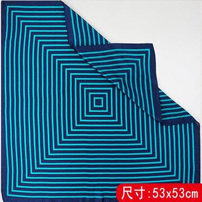 Schal Schal wickeln Schals für Damen Damenmode Schals schönen Farben weiche Kopftücher, Seidentücher Seidenschal eng Einfache Streifen Maulbeerseide 6-Farben optional, Blau-grün Bar, 53cm (Leiste Wickeln)