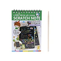 Exing Scratch Scratch Paper Book Art Magic Painting Drawing Rod Children Education Toys