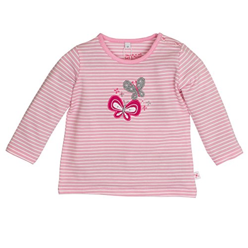 SALT AND PEPPER Baby-Mädchen Langarmshirt NB Longsleeve Sunshine Stripe, Rosa (Rose 817), 62