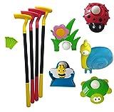 Fun Play Kids Minigolf Spielset Outdoor Spielzeug 4 Golfschläger 5 Spielstationen Kinder Golfset Ballspiel Set Drinnen Draussen
