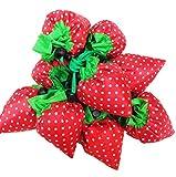 Faltbare Einkaufstaschen SKL ECO Taschen wiederverwendbare Erdbeere faltbar Einkaufstaschen Tote-10er-Pack - 7