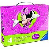 Minnie Mouse - Maleta con 4 puzzles (Ravensburger 07283 5)