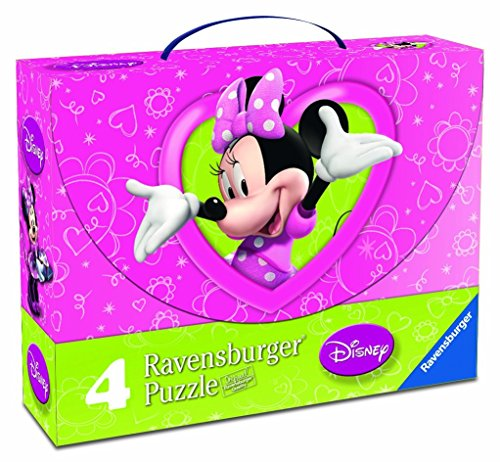Ravensburger 07283 - Minnie Mouse - Valigetta 4 puzzle - Natale Mouse Story