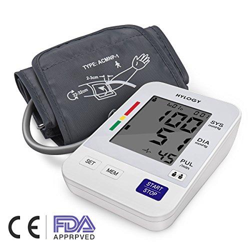 Digitale Blutdruckmessgerät, Hylogy Automatische Oberarm BP Monitor Manschette 8,7 bis 12,6 Zoll,...